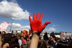 Protest at the Ministry of Education / Διαμαρτυρία  στο υπουργείο Παιδείας