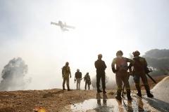 Bushfire  New Voutza Attica / πυρκαγιά στην περιοχή του Νέου Βουτζά Αττικής